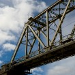 Railway bridge on a background of clouds — Stock Photo #2145891