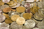 Russian metal coins. Texture — Stock Photo