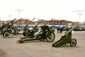 Museum of the artillery weapon — Stock Photo