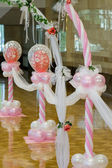 Wedding hall. Ornaments from balloons. — Stock Photo