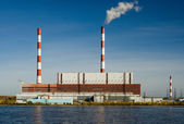 Power station. A kind from the river. — Foto Stock