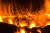 Bonfire. Fiery abstraction. Background — Stock Photo