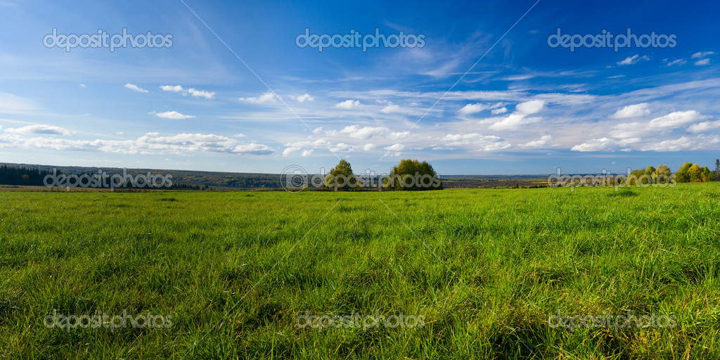 Beautiful summer landscape. The nature. Panorama — Stock Photo #2150924