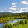 Summer landscape. River Vishera — Stock Photo