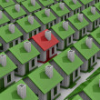 House choice. Isolated 3D image - Stock Photo
