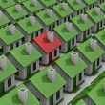 House choice. Isolated 3D image — Stock Photo