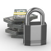 Protection of money. Isolated 3D image — Stock Photo