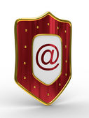 E-mail protection on white background — Stock Photo