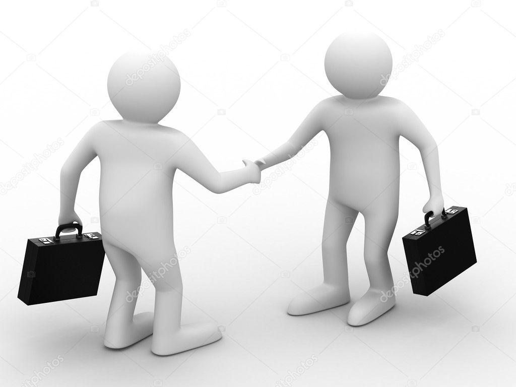 Rencontre des hommes d affaires