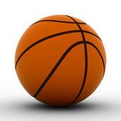 Basketball ball on white background — Stock Photo