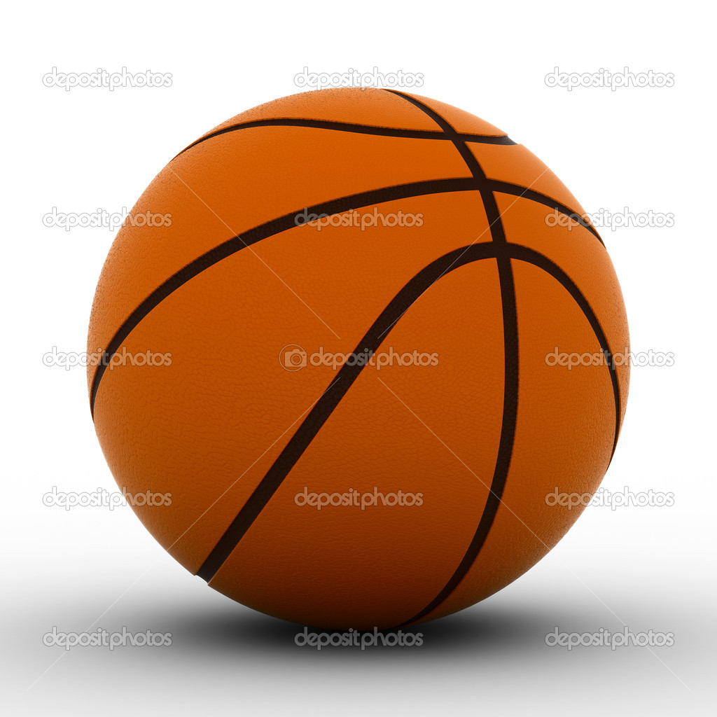 Basketball ball on white background. Isolated 3D image — Stock Photo #2616341