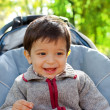 Foto Stock: Smiling little boy