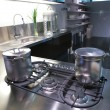Stok fotoğraf: Modern kitchen with saucepan