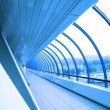 Futuristic glass corridor — Stock Photo #1187301