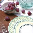 Stock Photo: Plate and Berrys of Grape, Still life