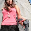 Serious gangster woman — Stock Photo #1187475