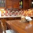 Kitchen furniture from mahogany - Foto Stock