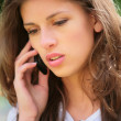 Girl speaks on phone — Stock Photo #1187695
