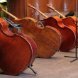 Vintage bass viols — Stock Photo