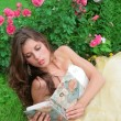 Princess read book — Stock Photo #1188240