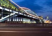 Gece görüş köprü moskova'da — Stok fotoğraf