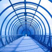 Mavi konsantrik tünel — Stok fotoğraf