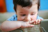 Little boy, soft focus — Stock Photo