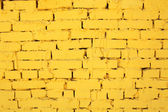 Pared de ladrillo amarillo — Foto de Stock