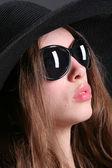 Black sunglasses — Stock Photo