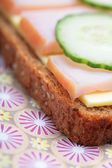 Fragment of sandwich — Stock Photo
