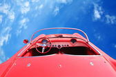 Vintage American Red Car 60 — Stock Photo