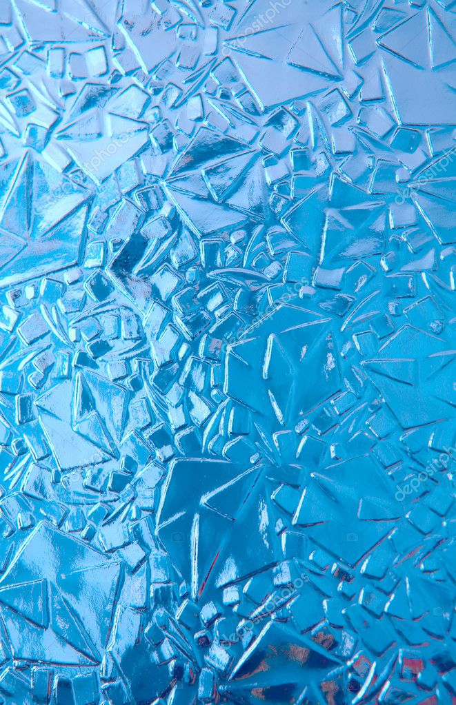 Transparent cool blue ice, texture, background — Stock Photo #1187538
