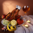 Still life with chicken — Foto Stock