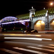Stok fotoğraf: Night view bridge in Moscow
