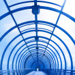 Blue glass corridor — Stock Photo #1356444