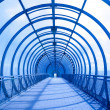Blue concentric tunnel — Stock Photo #1356446