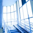 Blue interior of the transition — Stock Photo