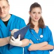 Two medical doctors — Stock Photo