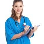 Physician writing — Stock Photo