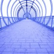 Futuristic blue tunnel - Stock Photo