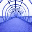 blue corridor — Stock Photo