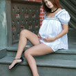 Pregnant young woman — Stock Photo #1359046