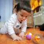 Little adorable infant, soft focus — Stock Photo