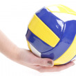 YELLOW-Blue-White Ball - Stock Photo