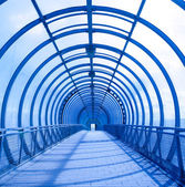 Blue concentric tunnel — Stock Photo