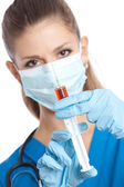 Doctor with syringe — Stock Photo