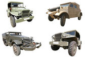 Military cars collection — Stock Photo