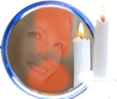Fortunetelling with mirror and candle — Stock Photo