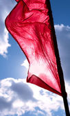 Red banner — Stock Photo