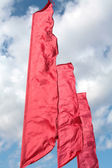 Brightly red flags — Stock Photo